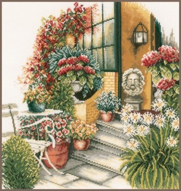 TERRACE IN AUTUMN BLOOM PN-0008016 LanArte